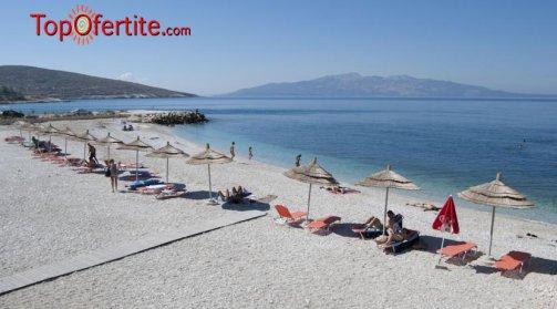 LAST MINUTE Албания, Саранда първа линия хотел BLUE SKY 4*! 8-дневна потвърдена екскурзия с включени закуски, вечери, чадъри и шезлонги на плажа и транспорт само за 560 лв.