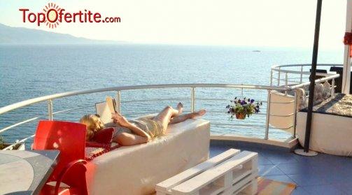 LAST MINUTE Албания, Саранда първа линия хотел SEASIDE ARTIST 4*! 8-дневна потвърдена екскурзия с включени 7 нощувки + закуски, вечери, чадъри и шезлонги на плажа и транспорт за 450 лв.