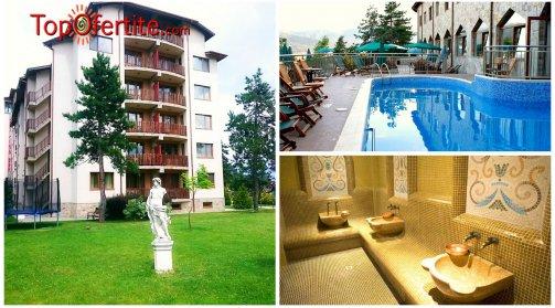 Хотел СПА Клуб Бор 4*, Велинград! 3 нощувки за 2 възрастни и 2 деца до 12 г в Апартамент + закуски, вечери и Уелнес пакет само за 330 лв