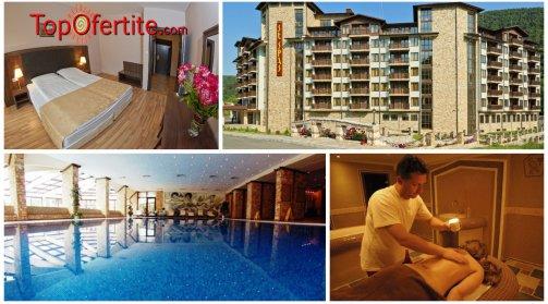 Балнео хотел Свети Спас 5*, Велинград! 3 нощувки в апартамент за 2 възрастни и 2 деца + закуски, вечери, 1 СПА процедура и Уелнес пакет само за 447 лв