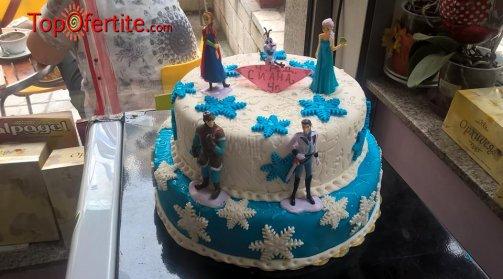 3D Детска торта и надпис по желание - 20 или 25 парчета от Кафе-сладкарница Орхидея само за 45 или 54 лв