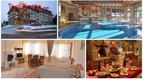 Хотел Перелик Палас 4*, Пампорово! 2 нощувки + закуски, вътрешен отопляем басейн, сауна, фитнес и дете до 12г Безплатно само за 80 лв на човек