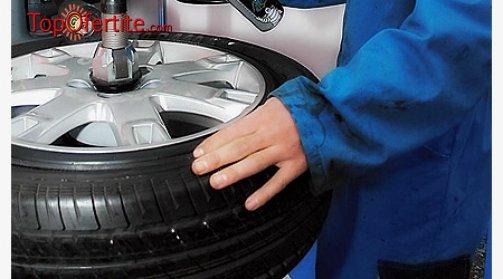 Смяна на 2 броя гуми с включен монтаж, демонтаж и баланс + БЕЗПЛАТНО кафе в Автосервиз Даскалов само за 9 лв