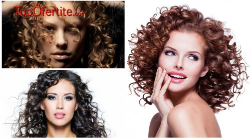 Подстригване, трайно студено къдрене, хидратираща маска + оформяне със сешоар или дифузер от M&M Blush Beauty за 28,90 лв вместо 65 лв