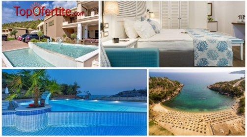 Остров Тасос, Гърция РАННИ ЗАПИСАНИЯ за хотел Thassos Grand Resort 5*! Нощувка + закуска, ползване на отопляем басейн 28° C  и опция вечеря на цени от 61,70 лв. на човек