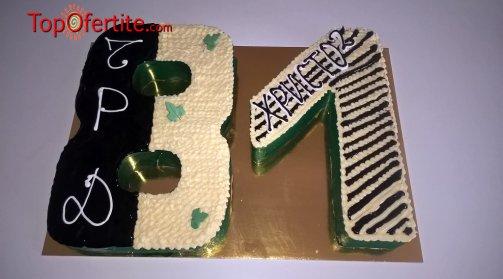 3D Детска торта и надпис по желание - 25 парчета от Кафе-сладкарница Орхидея само за 54 лв