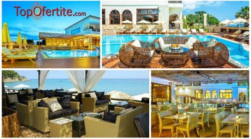 Халкидики, Гърция РАННИ ЗАПИСВАНИЯ за хотел Possidi Paradise 4*, Касандра-Посиди, първа линия! Нощувка + закуска, вечеря и ползване на басейн на цени от 48  лв. на  човек