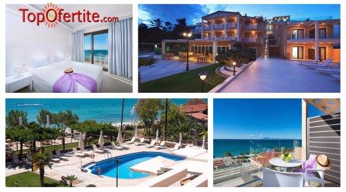 Хотел Blue View 3*, остров Тасос, Гърция, първа линия! Нощувка + закуска, Безплатно дете до 12 г. и опция вечеря на цени от 45,20 лв. на човек
