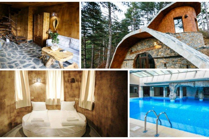 Еко къщи към хотел Валентина Касъл, село Огняново! Нощувка + закуска, топъл басейн с минерална вода и Уелнес пакет само за 64.95 лв на човек