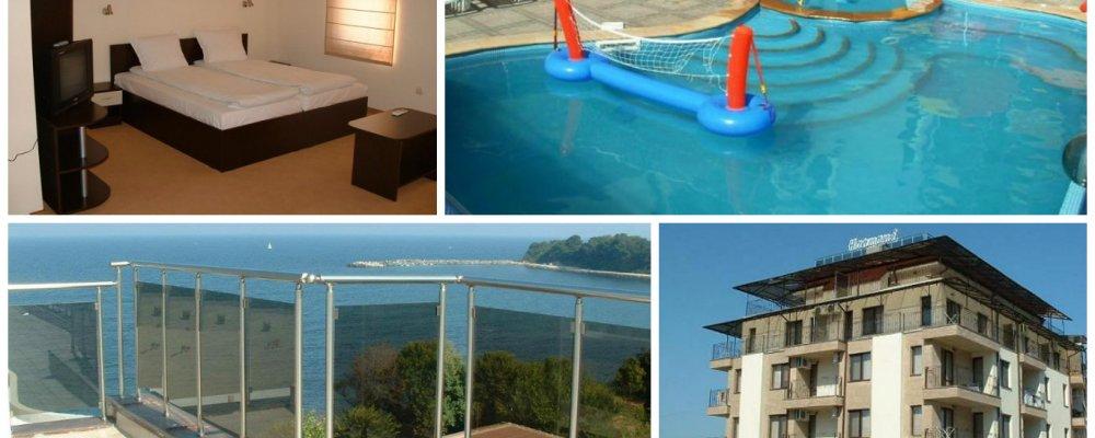 Хотел Хармани, Китен! 5 нощувки в студио за четирима или апартамент за петима + басейн с детска част и джакузи на цени от 52 лв на ден за цялото помещение