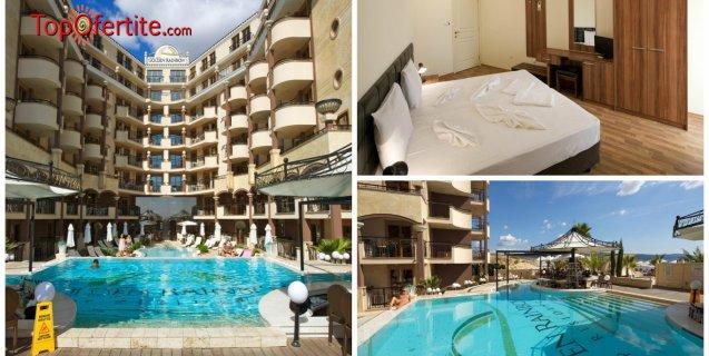 Хотел Голден Ина - Румба Бийч, Слънчев бряг, Първа линия! Нощувка + закуска, вечеря и ползване на басейн, чадър и шезлонг на цени от 76 лв. на човек