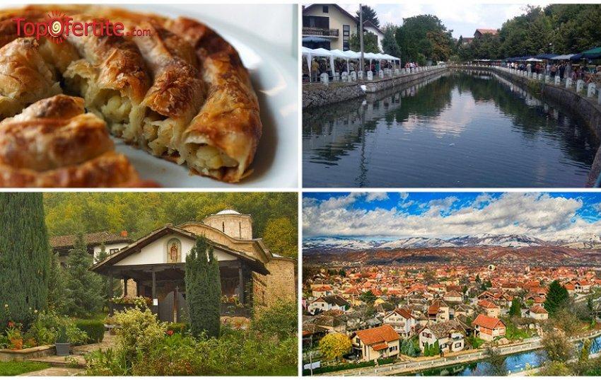 1-дневна екскурзия за Фестивал на баницата до Бела Паланка с посещение на гр.Пирот и Темския манастир само за 20 лв