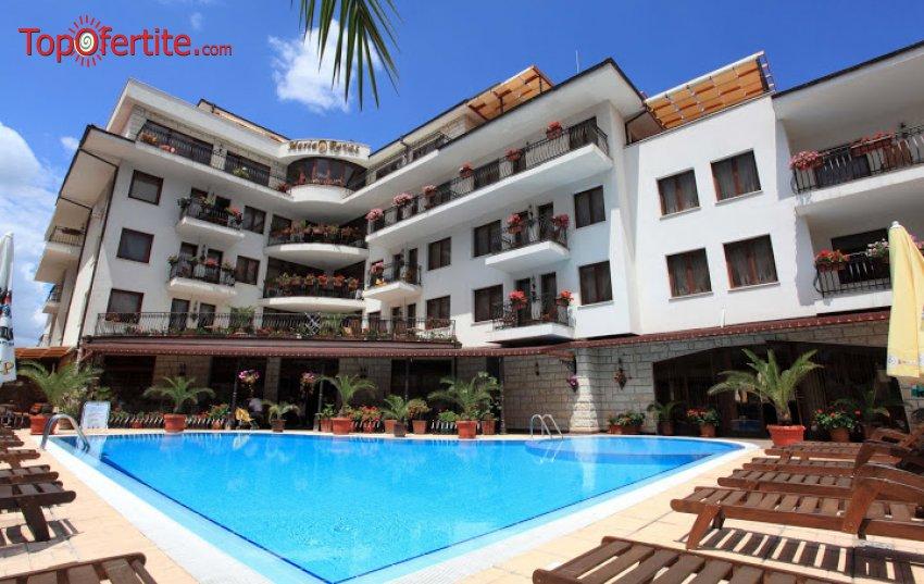 Хотел Феста Мария Ревас 5*, Слънчев Бряг! Нощувка в апартамент + закуска, външен басейн с шезлонг и чадър само за 49 лв