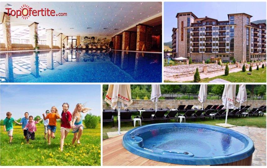 Балнео хотел Свети Спас 5*, Велинград! Нощувка в Апартамент за 2 възрастни и 2 деца или 3 възрастни + закуски, вечери и Уелнес пакет за 170 лв
