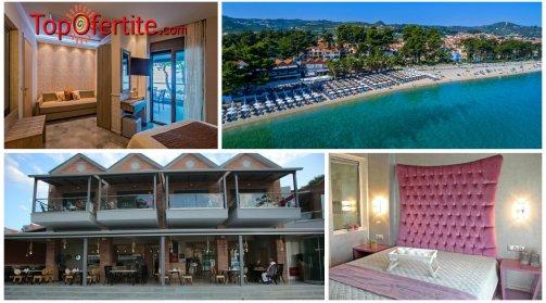 Халкидики, Гърция за хотел Flegra Beach 3*, Касандра-Пефкохори, първа линия! 1-дневен пакет с опция закуска и вечеря на цени от 39,20 лв. на човек