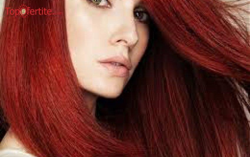 Tерапия ламиниране  за здрава и жизнена коса + прическа прав сешоар от Салон за красота Веслец само за 12.50лв