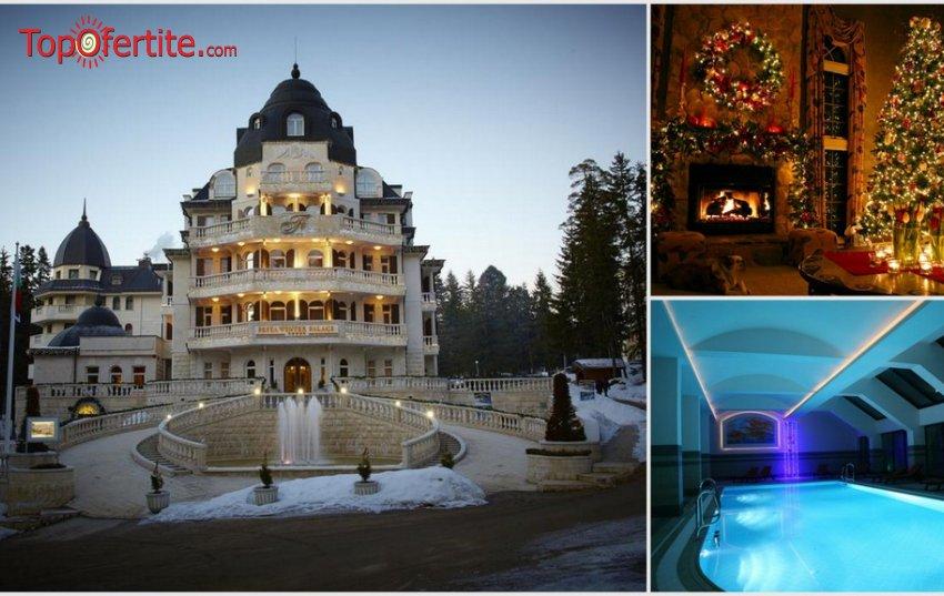 Хотел Феста Уинтър Палас 5*, Боровец за Коледа! 3 нощувки + закуски, вечери, специални празнични вечери на 24 и 25.12, детска анимация със Снежанка и Дядо Коледа и Уелнес пакет само за 399 лв.