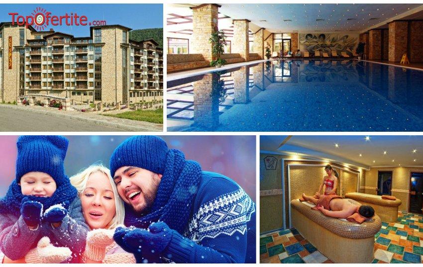 Балнео хотел Свети Спас 5*, Велинград! Нощувка в Апартамент за 2-ма възрастни и 2 деца + закуски, вечери и Уелнес пакет за 178 лв