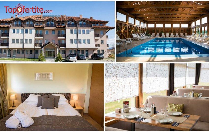 СПА хотел Севън Сизънс, село Баня, Банско! Нощувка + закуска и вечеря, закрит минерален басейн, сауна и Уелнес пакет на цени от 52,90 лв на човек