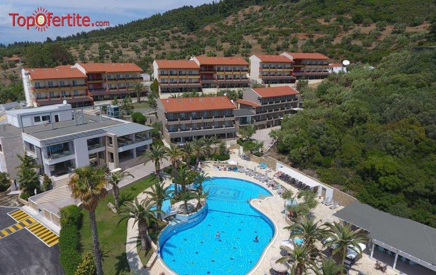РАННИ ЗАПИСВАНИЯ, Lagomandra Hotel & Spa 4*, Ситония, Гърция! Нощувка + закуска, вечеря, басейн и безплатно дете до 13,99г. на цени от 62.50 лв на човек