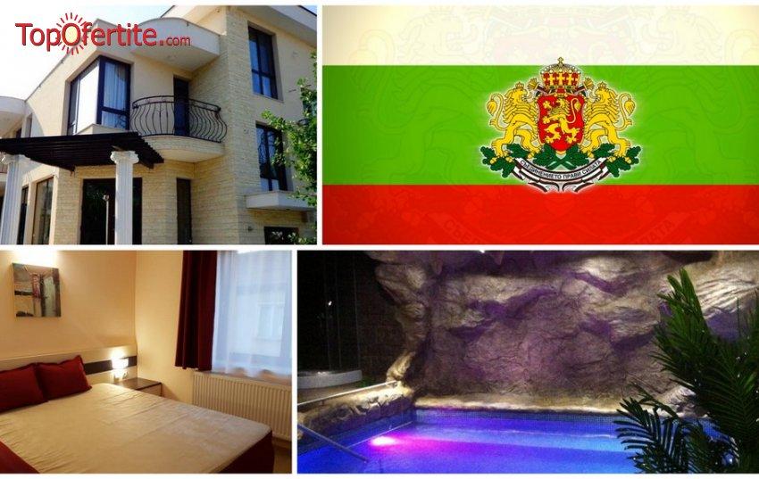 Къща за гости ЕГО, с.Минерални бани за 3-ти Март! 3 или 4 нощувки + закуски, вечери, празнична вечеря с DJ, минерален терма басейн, сауна и парна баня на цени от 145 лв. на човек