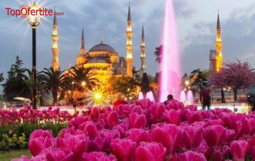 """4-дневна екскурзия до Истанбул за фестивала на Лалето! 2 нощувки + закуски, екскурзоводско обслужване на български език + възможност за посещение на WATERGARDEN İSTANBUL + Бонус посещение на църквата """"Първо число"""" само за 89 лв. вместо за 165 лв"""