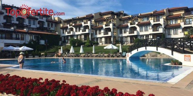 Апарт хотел Св. Никола 4*, Черноморец! Ранни записвания! Нощувка в студио или апартамент + басейн, шезлонг и чадър на цени от 21 лв. за цялото помещение
