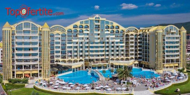 Хотел Виктория Палас 5*, Слънчев бряг Първа линия! Ранни записвания! 1 нощувка на база All inclusive + външен басейн на цени от 64,50 лв. на човек + дете до 12г. Безплатно