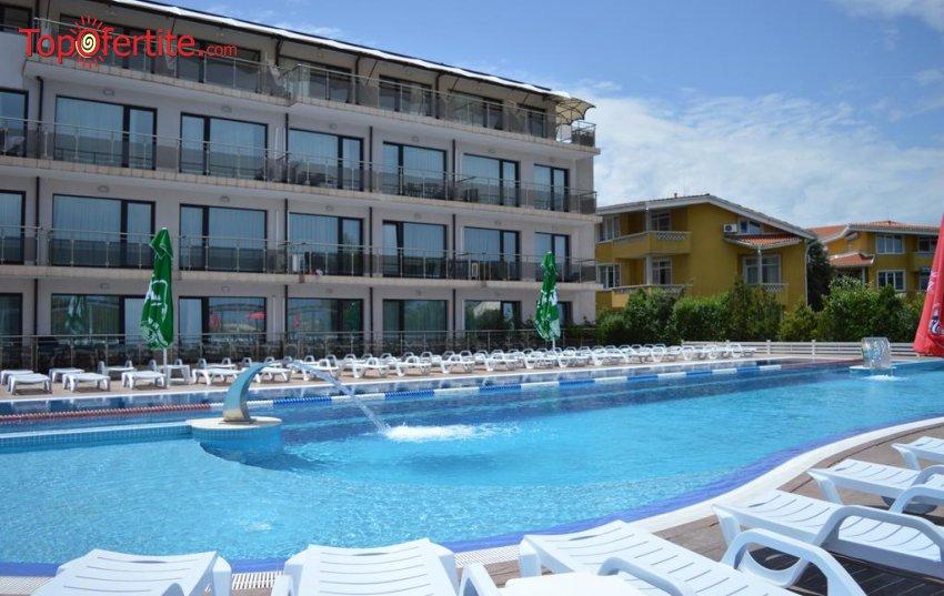 Хотел Созополи Стайл на първа линия до къмпинг Златна рибка, Созопол! Нощувка в Апартамент за Четирима на база All Inclusive Light + външен басейн, шезлонг и сауна на цени от 150 лв