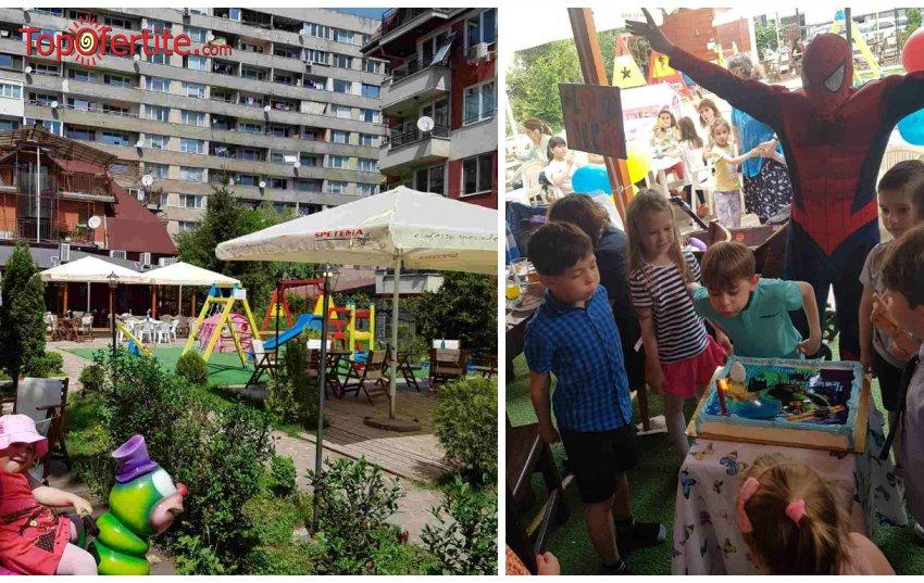 Детски рожден ден 3 часа за 10 деца и 10 възрастни + празнична фото торта, менюта и украса от Sugarlandkids на цени от 149 лв.