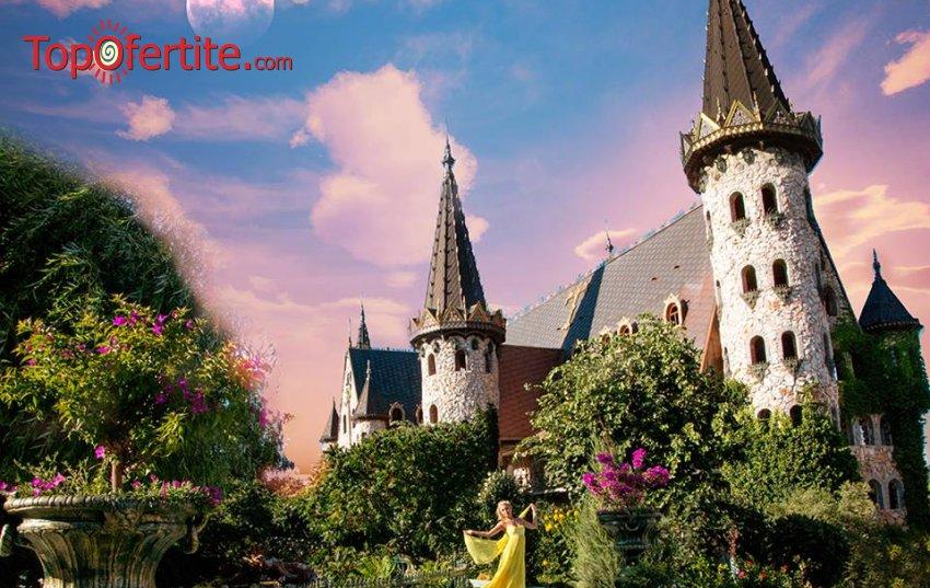 """1 час езда в Замък """"Влюбен във вятъра"""" в село Равадиново за Двама + вход за комплекса, обяд, снимка с краля на Замъка само за 160 лв."""