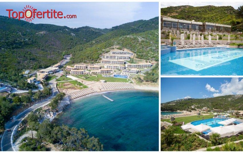 Остров Тасос, Гърция хотел Thassos Grand Resort 5* за Mайските празници! Нощувка + закуска, обяд и ползване на отопляем басейн 28°C на цени от 66 лв. на човек