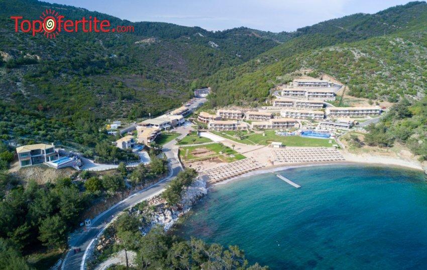 Остров Тасос, Гърция хотел Thassos Grand Resort 5*! Нощувка + закуска и ползване на отопляем басейн 28°C на цени от 66 лв. на човек