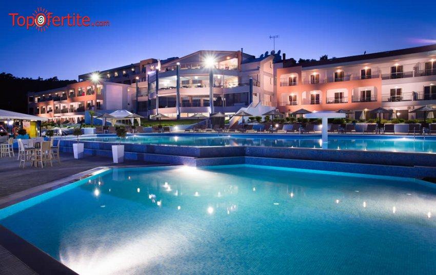 1-ви Май в Гърция! Blue Dream Palace 4*, Лименария, Тасос! Нощувка + закуска, вечеря басейн за 60,80 лв лв на човек