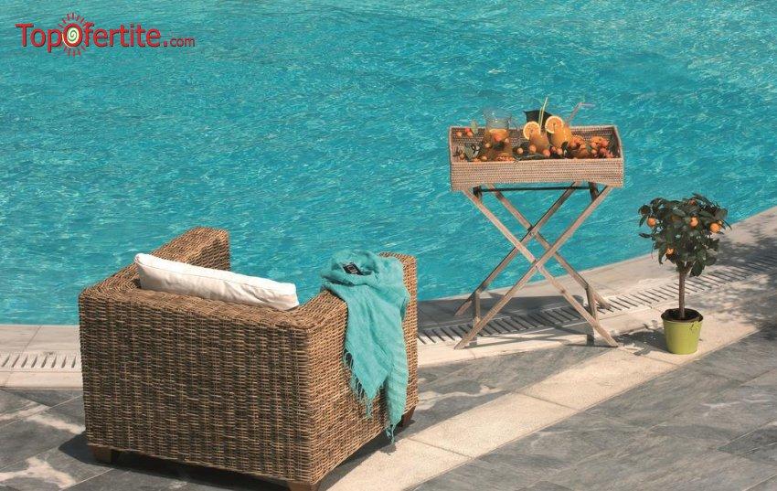 Sun Beach Hotel 4*, Агиа Триада, Гърция! Нощувка + закуска, вечеря, басейн и безплатно дете до 6,99г. на цени от 63,80 лв на човек
