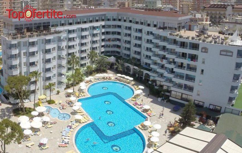 Senza Hotels Grand Santana 4*, Алания, Турция! 4 или 7 нощувки на база All Inclusive + самолет, летищни такси и трансфер на цени от 699.50 лв на човек