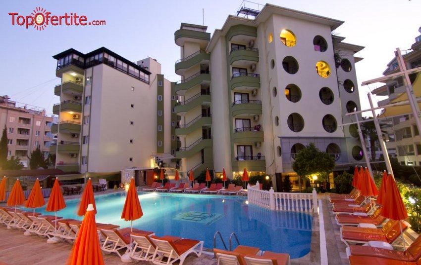 Krizantem Beach Hotel 4*, Алания, Турция! 4 или 7 нощувки на база All Inclusive + самолет, летищни такси и трансфер на цени от 513.50 лв на човек