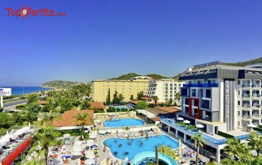 White City Beach Hotel 4*, Алания, Турция! 4 или 7 нощувки на база All Inclusive + самолет, летищни такси, трансфер на цени от 635 лв на човек