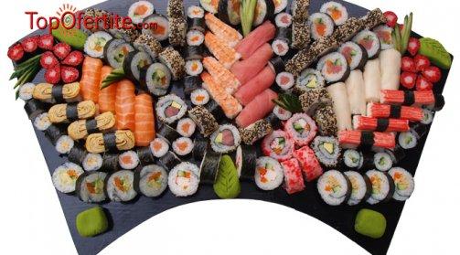 Суши сет от 128 бр. хапки от Sushi House само за 65 лв, вместо 130 лв
