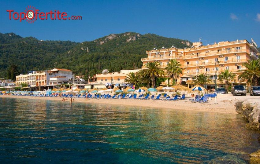Potamaki Beach Hotel 3*, Корфу, Гърция, първа линия! Нощувка + закуска и басейн на цени от 52,50 лв на човек