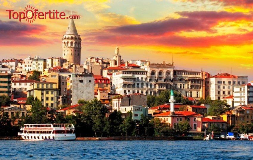 """4-дневна екскурзия до Истанбул в Bekdas Deluxe Hotel 4* + 2 нощувки със закуски, панорамна автобусна обиколка на Истанбул, пешеходна разходка из античния град, трансфер до Мол """"Forum"""" с Sea Life Akvarium само за 115 лв."""