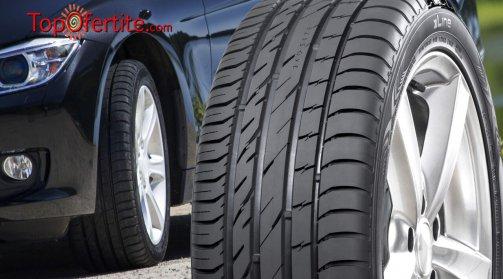 Смяна на 2 броя гуми с включен монтаж, демонтаж, баланс и тежести + ПОДАРЪК нови вентили от Денонощен Автоцентър Делина само за 15 лв