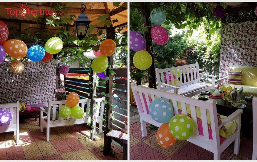 Детски рожден ден 3 часа за 10 деца и 15 възрастни + празнична фото торта, менюта и украса от Sugarland 2 на цени от 161 лв.