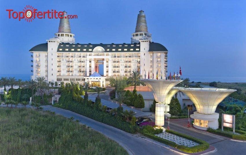 Delphin Diva 5*, Анталия, Турция за Нова година! 4 нощувки на база Ultra All Inclusive + Новогодишна вечеря, СПА център, самолет, летищни такси, трансфер само за 889 лв на човек