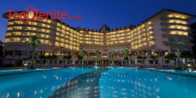 Saphir Resort & SPA 5*, Алания, Турция! 4 нощувки на база All Inclusive + самолет, летищни такси и трансфер само за 759.50 лв на човек
