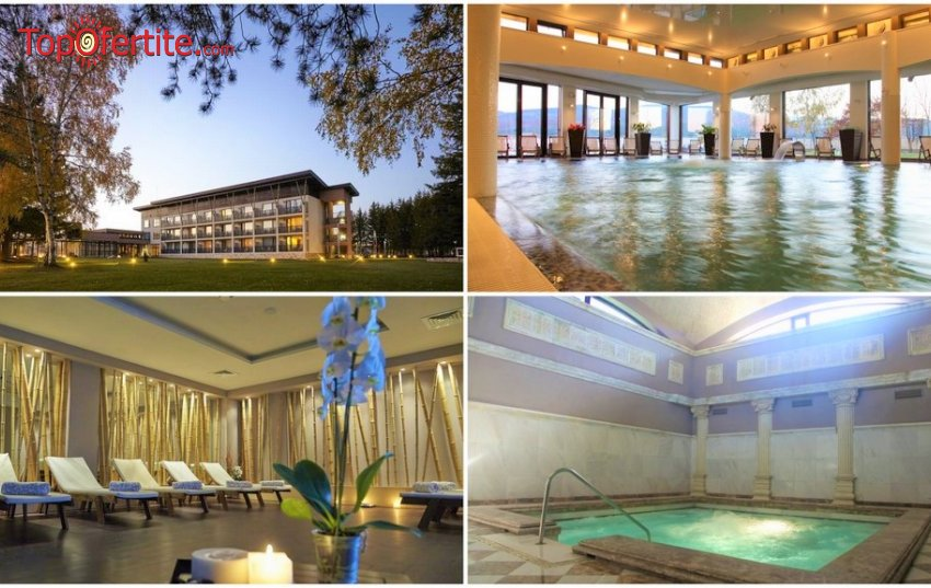 СПА хотел Белчин Гардън 4*, Белчин Баня, Делник! Нощувка + закуска,безплатно ползване на минерален басейн и Уелнес пакет на цени от 62,50 лв. на човек