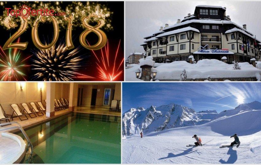 Хотел Мария-Антоанета Резиденс, Банско за Нова Година! 3 нощувки + 3 закуски , 2 вечери, 1 специална Новогодишна вечеря и Уелнес пакет само за 397 лв. на човек