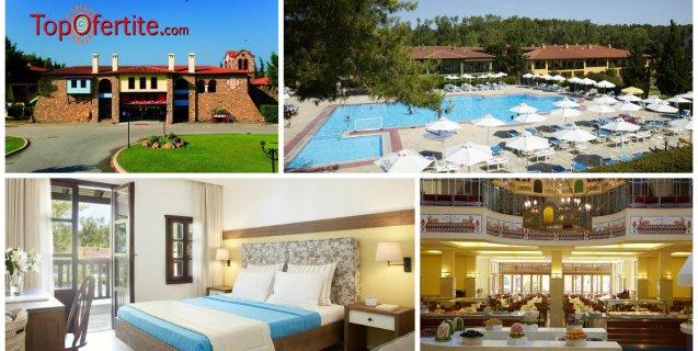 РАННИ ЗАПИСВАНИЯ за хотел Simantro Beach 4*, Халкидики, Гърция! Нощувка + закуска, вечеря и безплатно дете до 11,99г. на цени от 60.30 лв. на човек