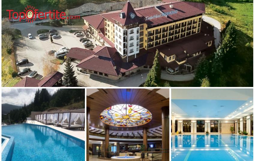 """ЕКСКЛУЗИВНО! Реновираният комплекс  Гранд Хотел Велинград 5* с 800 м2 новоизградена СПА зона с басейни - """"Царството"""" на минералната вода! Нощувка + закуска, вечеря и Уелнес пакет за 79 лв на човек"""