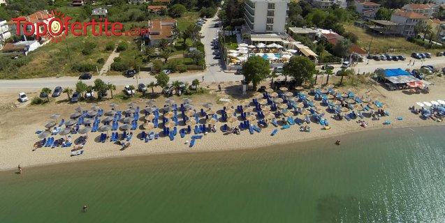 Santa Beach Hotel 4*, Агиа Триада, Солун, Гърция за Нова година! 3 нощувки + закуски, вечери и новогодишна Гала вечеря и безплатно дете до 11,99г. на цени от 273 лв на човек